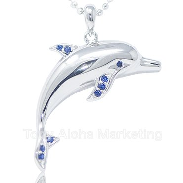【Silver】【Top】Dolphine・Blue CZ