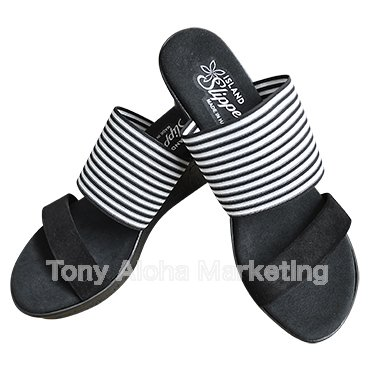 【Island Slipper】【Women's】Made in Hawaii  Black Stripe - ウインドウを閉じる